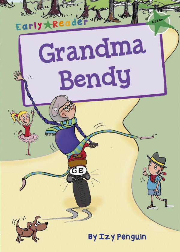 front cover illustration of children's book Grandma Bendy, early reader version