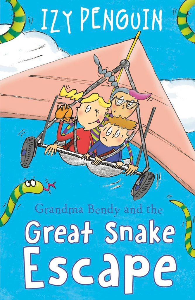 front cover illustration of children's book Grandma Bendy and the Great Snake Escape